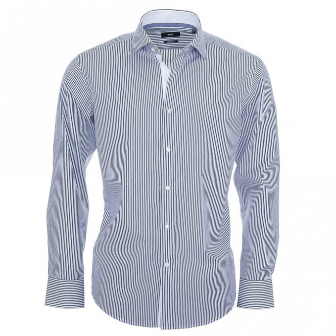 Hugo Boss Eraldin Blue Stripe Shirt
