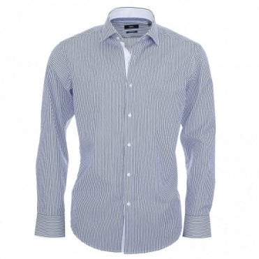 Eraldin Blue Stripe Shirt