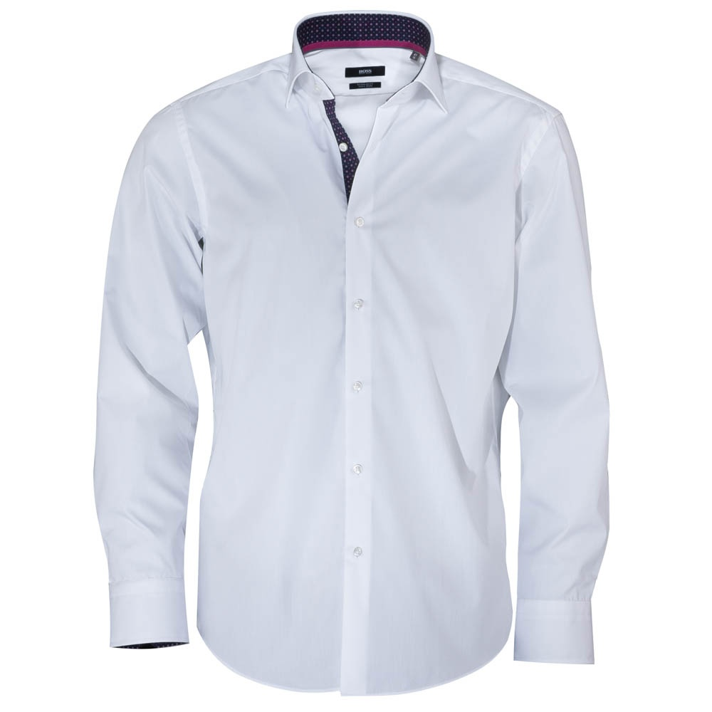 hugo boss eraldin white shirt with pink collar hugo boss