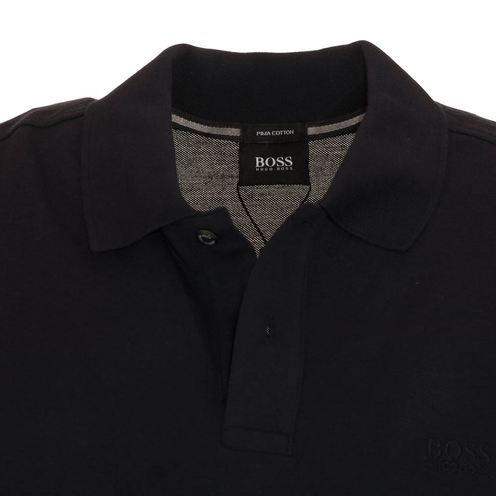 hugo boss firenze black polo shirt hugo boss from charles hobson uk. Black Bedroom Furniture Sets. Home Design Ideas