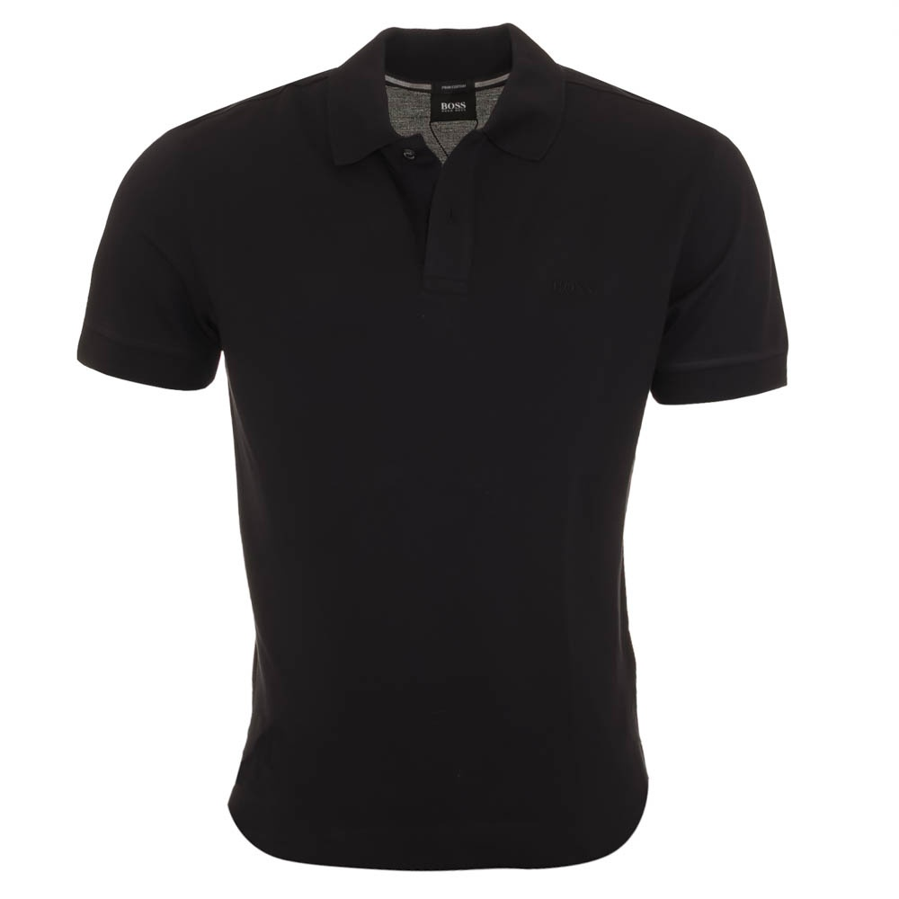 Hugo boss firenze black polo shirt hugo boss from for Black polo shirt images