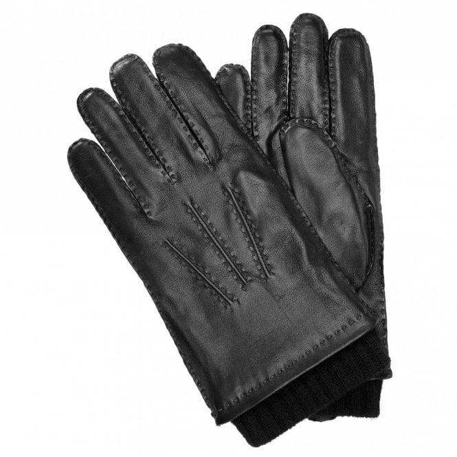 Hugo Boss Haily1 Leather Gloves - Black