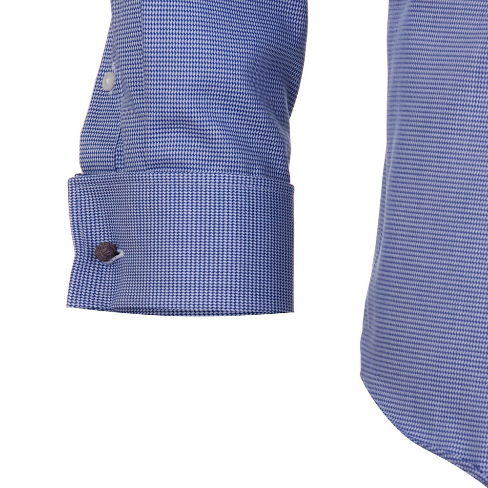 7c88ce6ff Jaiden Pinhead Double Cuff Shirt - Blue - Mens from Charles Hobson ...