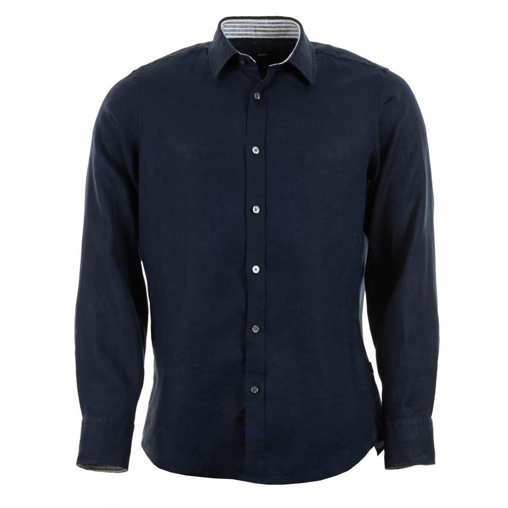 Hugo boss lucas 8 linen shirt navy hugo boss from for Hugo boss navy shirt