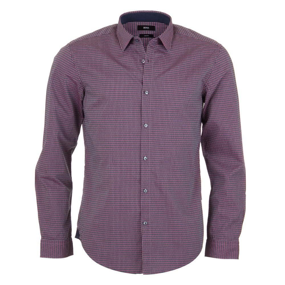 Hugo boss nemos 2 shirt pink check hugo boss from for Hugo boss dress shirt review