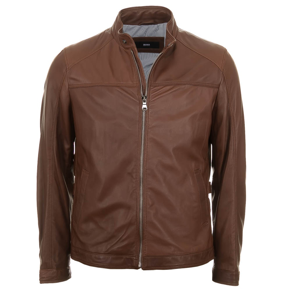 Hugo boss leather jackets