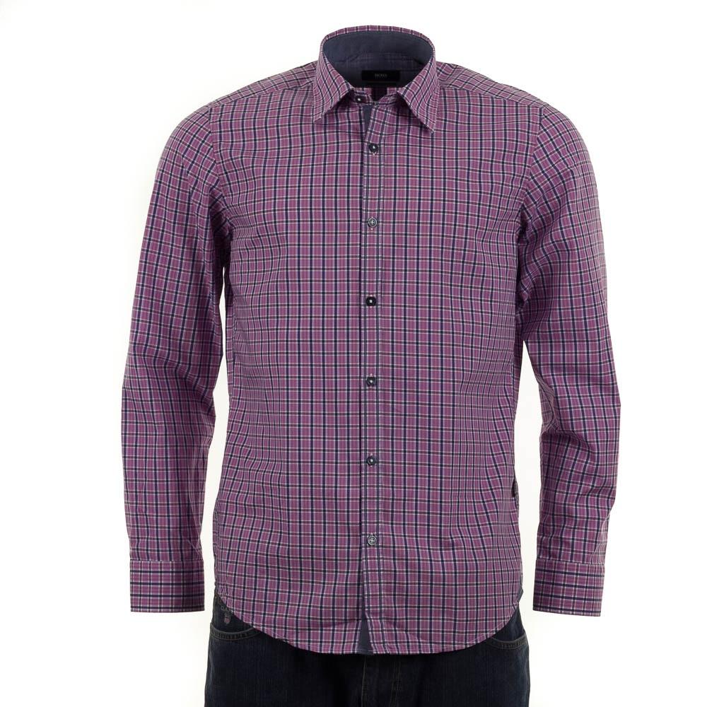Hugo Boss Obert 1 Pink Check Shirt Hugo Boss From