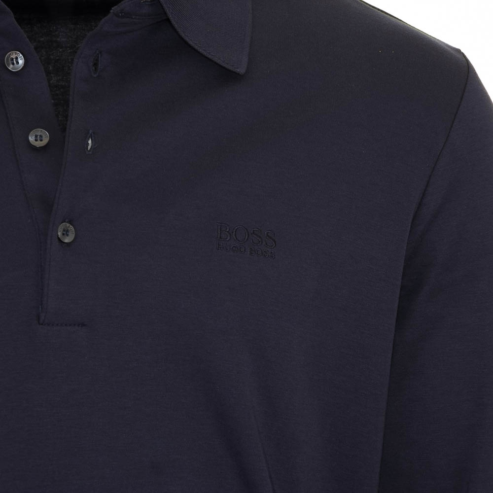 hugo boss paderna 20 navy polo shirt hugo boss from. Black Bedroom Furniture Sets. Home Design Ideas