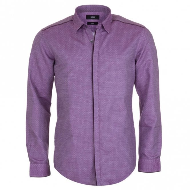 Hugo Boss Robertino Purple Shirt - Purple