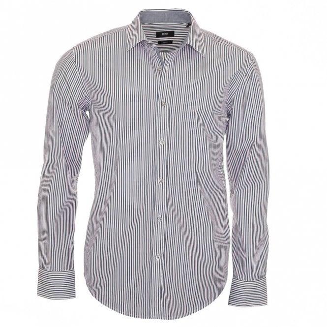 Hugo Boss Ronny 21 Pink Stripe Shirt