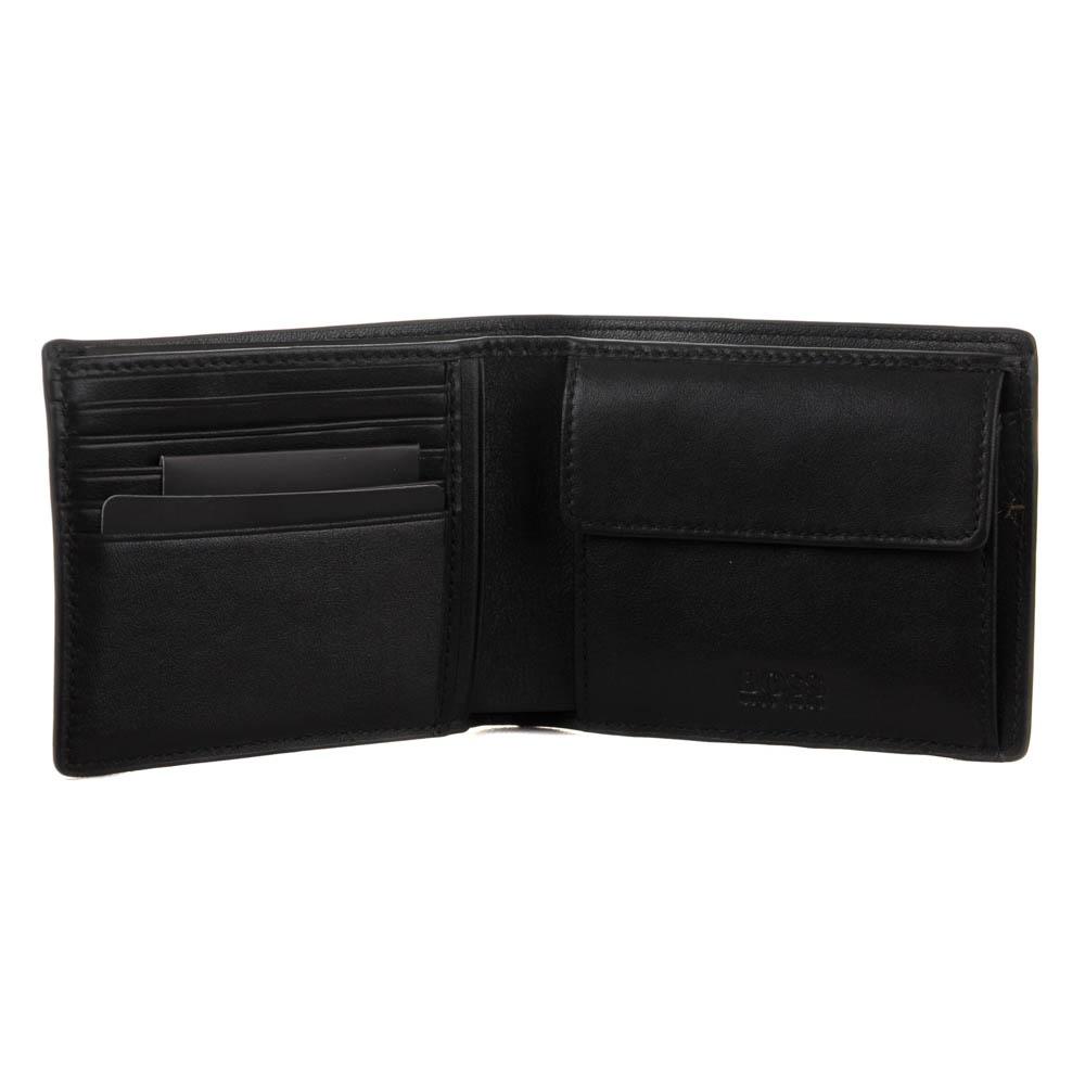 Boss Shamoi Leather Wallet Black Free Shipping