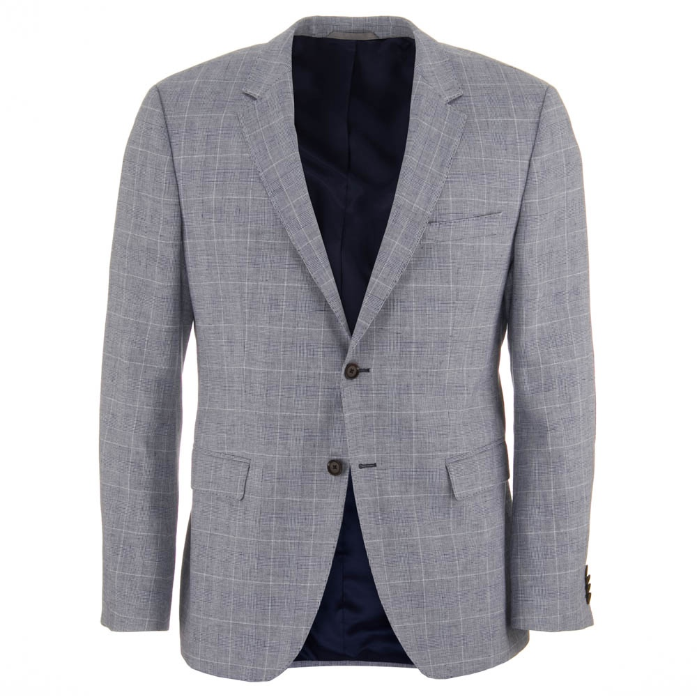 The Smith 12 Grey Cotton And Linen Blazer Mens From