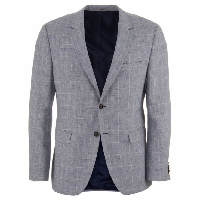 Hugo Boss The Smith 12 Grey Cotton and Linen Blazer