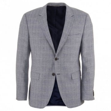 The Smith 12 Grey Cotton and Linen Blazer