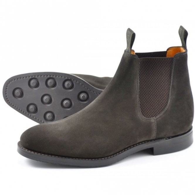 Loake Chatsworth Brown Dainite Wax Suede Boot