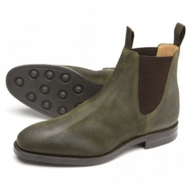 Chatsworth Green Dainite Wax Suede Boot