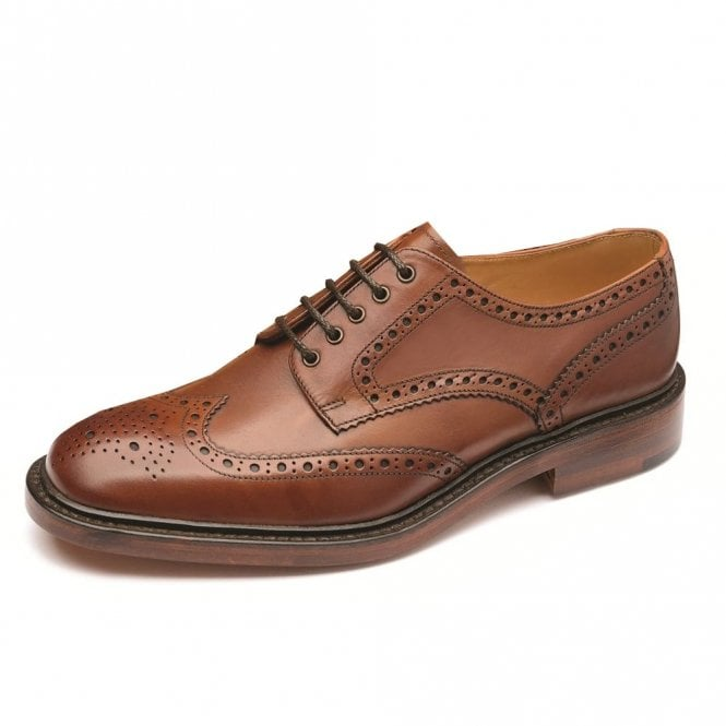 Loake Chester Mahogany Brogue - Brown