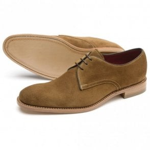 Drake Tan Suede Lace Up Shoe - Tan