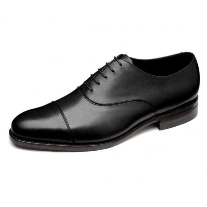 Loake Holborn Black Calf Capped Oxford Shoe