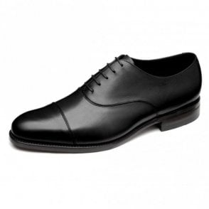 Holborn Black Calf Capped Oxford Shoe