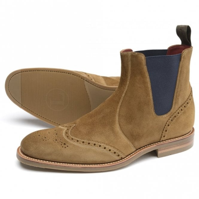 Loake Hoskins Brogue Dealer Boot - Tan