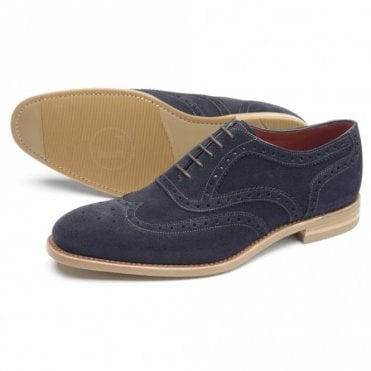 Kerridge Navy Suede Brogue