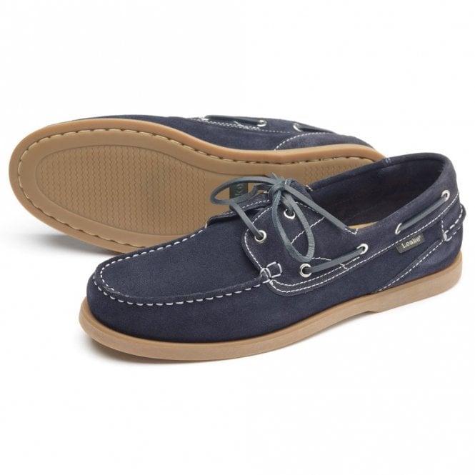 Loake Lymington Navy Suede Moccasin shoe