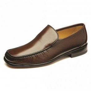 Siena Nappa Apron Moccasin - Brown