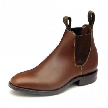 Women's Chatterley Brown Waxy Chelsea Boot