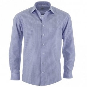 Luxor All Cotton Blue Check Formal Shirt