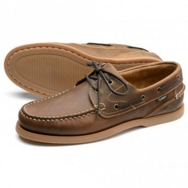 Lymington 2 Eyelet Boat Shoe - Brown