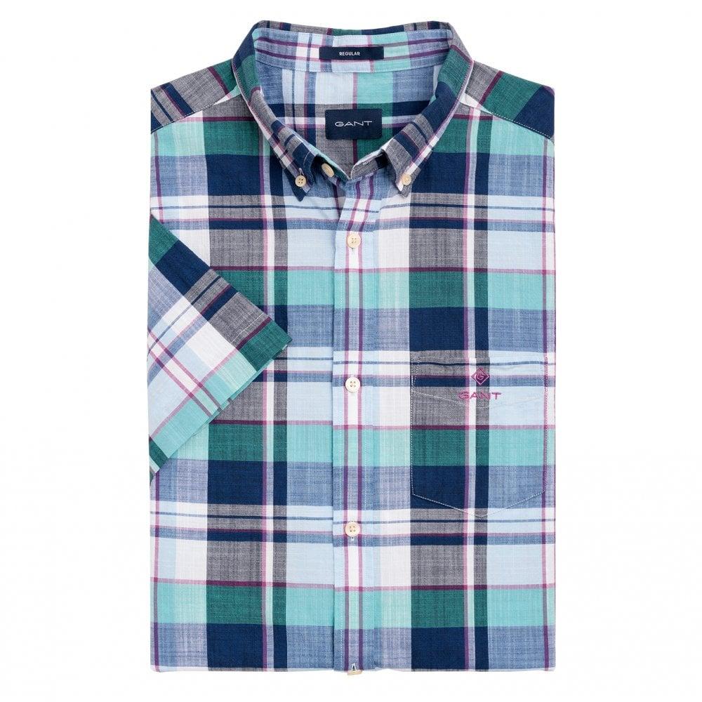 cb83b72a9af Madras Colourful Short Sleeve Shirt - Persian Blue 3014631-423