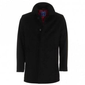 Isac Short Overcoat - Black