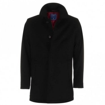 Isac Short Overcoat - Black