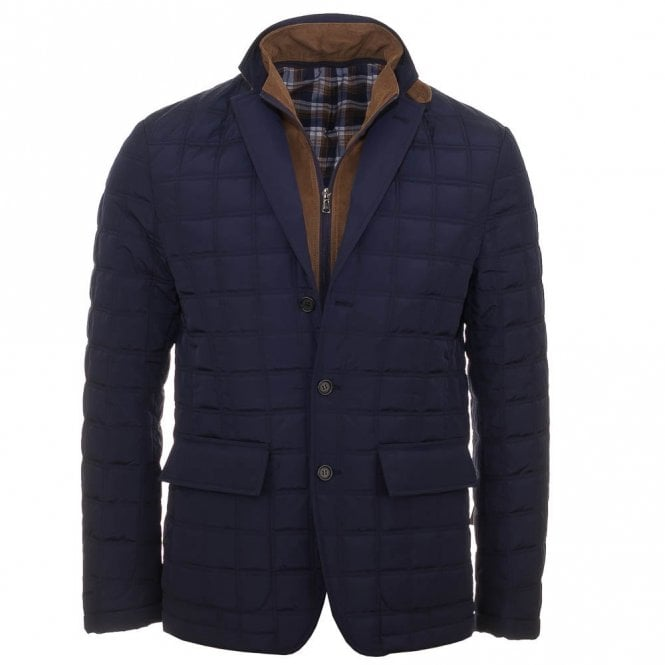 Magee Levon Padded Coat Blue Magee From Charles Hobson Uk