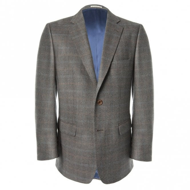 Magee Nice T2 52698 Brown Check Jacket