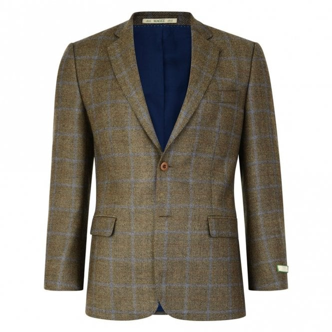 Magee Nice T2 53234 Brown Country Check Jacket