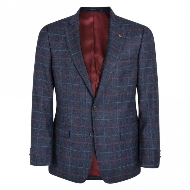 Magee Nice T2 Navy Check Jacket 54250