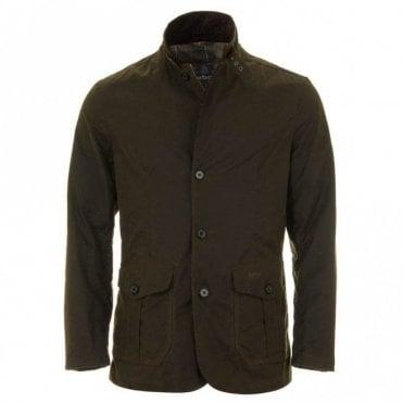 Men's Lutz Wax Jacket - Olive Green