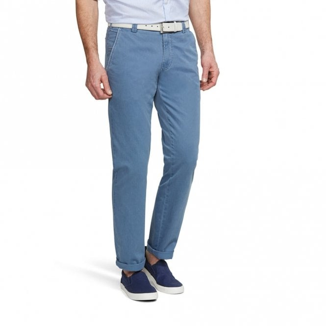 Meyer New York light blue Chino 1-5001/17 - Blue