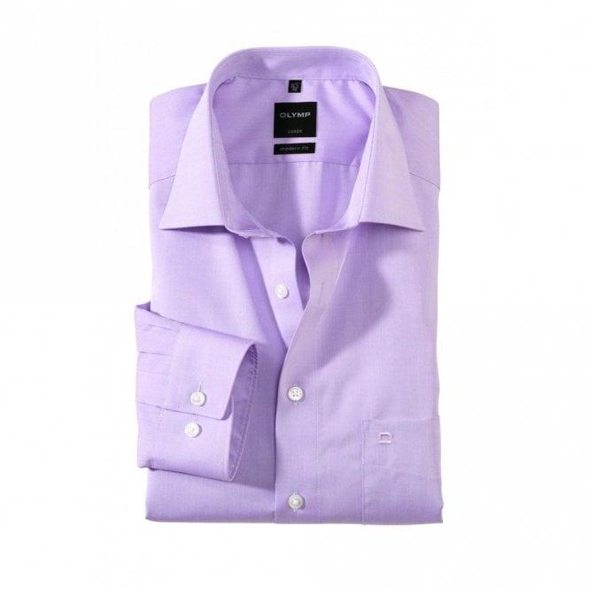 Olymp Modern Fit Luxor Plain Lylac Shirt 0304/64/71