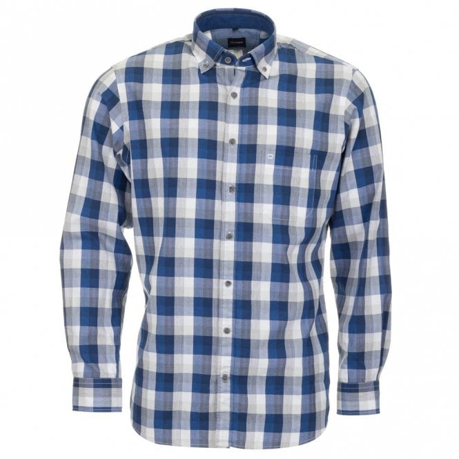 Olymp All Cotton Shirt - Blue Check