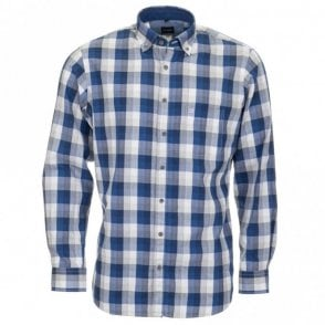 All Cotton Shirt - Blue Check