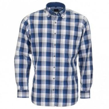 All Cotton Shirt - Blue Check