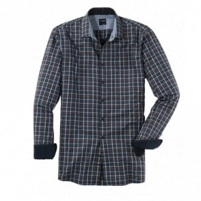 Blue/Brown Check Shirt