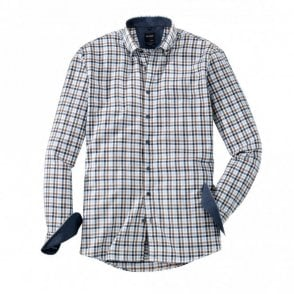 Olymp Brown/Navy Check Shirt