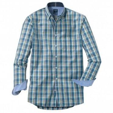 Olymp Casual Modern Fit Blu/green Check Shirt