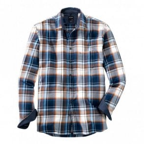 Large Check Blue/Brown Shirt