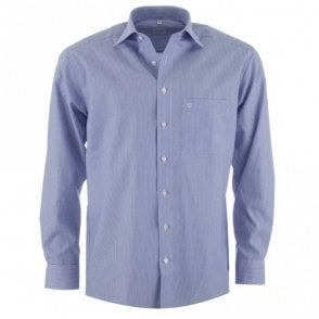 Luxor Blue Stripe All Cotton Formal Shirt