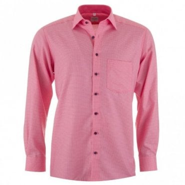 Luxor Pink Check All Cotton Shirt